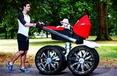 Macho Car-Inspired Strollers - The Skoda vRS Mega Man-Pram is Designed for the Car Enthusiast Dad
