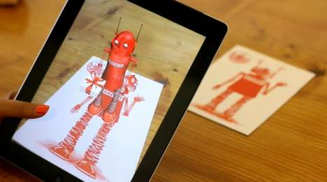 Augmented Reality Greeting Cards - Gizmo's Augmented Reality Cards Update Traditional Cards