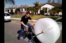 Bubble-Popping Bikes - Pop Bubble Wrap as You Ride Your Bike with the Bubble Wrap Bike