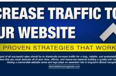Website Traffic Strategy Infographics - This Infographic Offers Useful On- and Off-Site Strategies