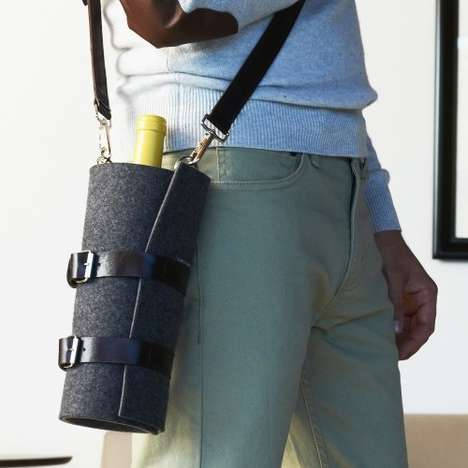 Chic Booze Bottle Bags - Carry a Single Bottle of Wine Anywhere with the Quiver Wine Carrier