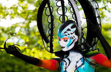 Eye-Popping Human Art - The 2013 World Bodypainting Festival is Elaborately Otherworldly