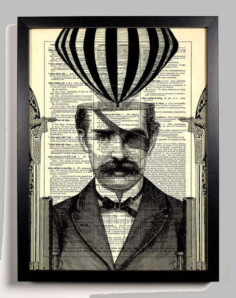 Circus-Inspired Dictionary Art