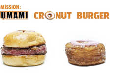 Monstrous Cronut Burger Hybrids - This Frankenstein Creation Combines the Cronut and Umami Burger