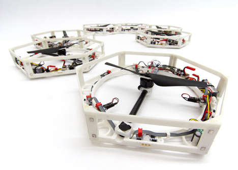 Self-Grouping Drones