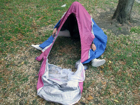 Sneaker-Stored Tents