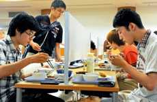Shielded Lunchroom Seating - The Kyoto University Introduces 'Bocchi Seki' for People Who Eat Alone