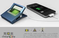 Human Powered Phone Chargers - The Charging Clip Uses Expelled Energy to Charge Your Phone