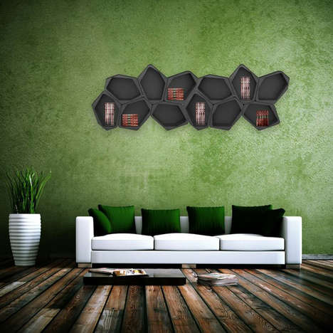 Modular Honeycomb-Like Shelving
