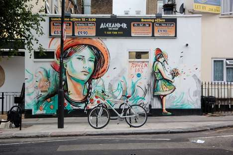 Artist Alice Pasquini Creates Amazing Depictions of Innocent Women