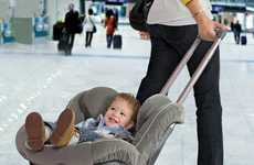 Car Seat Stroller Converters - The Brica Roll'n Go Makes Car Seat Airplane Travel Much Easier