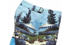 Aerial Photography Swim Trunks