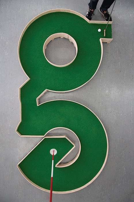 Typographic Mini Golf Courses