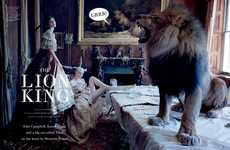 Lion-Infused Photoshoots - 'Atlas: The Lion' by Tim Walker for Love Magazine is Fierce