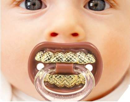 Gold Teeth Pacifiers