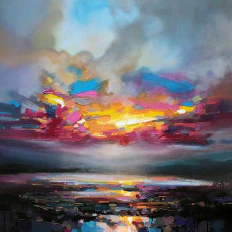 Multicolored Landscape Paintings