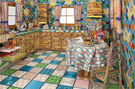 Bead-Covered Kitchens