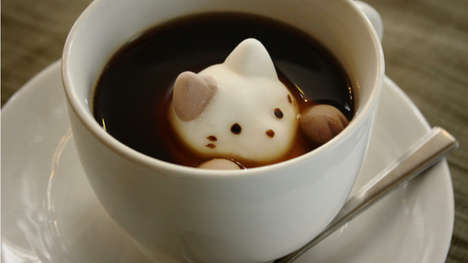 Animal-Shaped Coffee Marshmallows