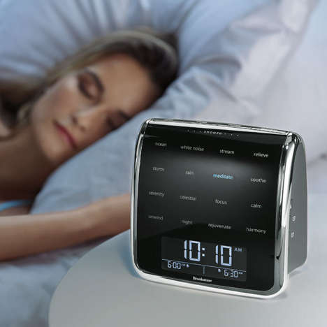 Health-Focused Alarm Clocks - The Tranquil Moments Sleep Sound Machine is for Relaxing or Waking