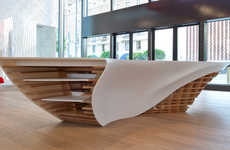 Sweeping Sculptural Furniture - The Slo-Gen Table by Cal Poly Looks Like a Mathematical Visual