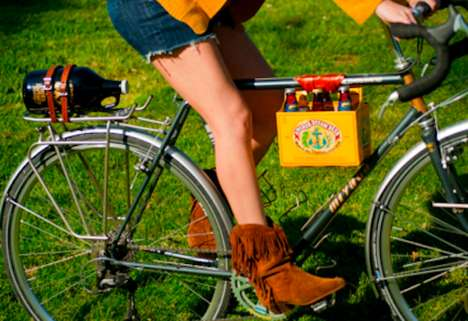 Beer-Carrying Bike Clasps - This Bike Frame Clasp Allows for Easy Transportation