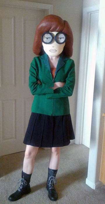 90s Cartoon Character Costume - The Daria Costume by Jaimie Jenkins is Made Out of Paper Mache