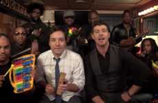 Kid-Friendly Pop Spoofs - Jimmy Fallon and Robin Thicke Get Childlike in This Blurred Lines Spoof