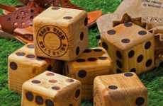 Gigantic Board Game Dice - These Wood Yard Dice are Perfect for Outdoor Summer Games