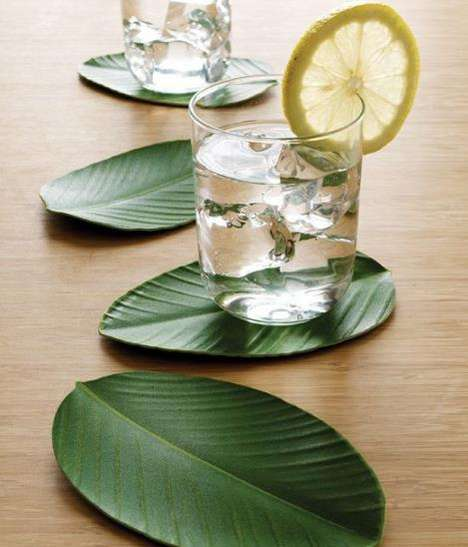 These Leaf Coasters Infuse an Organic Feel to Your Table Top