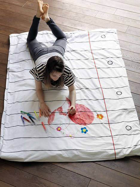 Customizable Duvet Covers - Take Creativity to Bed with This DIY Sketchpad Blanket