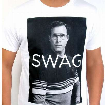 Ironic Comedian T-Shirts - The Will Ferrell 'Swag' T-Shirt from Fancy is Perfect for Class Clowns
