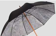 Vintage City Map Umbrellas