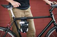 Bike Lock Holsters - Walnut Studio's U-Lock Storage Keeps Locks on Hand and Out of the Way