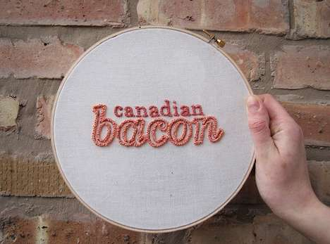 Typographic Carnivore Embroideries