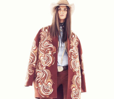 Contemporary Chic Cowgirl Editorials - The Vogue Turkey Updates Western Fashion