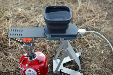 Heat-Harnessing Chargers - The FlameStower Charger is Perfect for Camping Trips