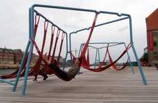 Hammock Public Seating - The Off-Ground Installation is Part Playground, Part Retreat