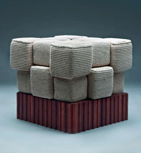 Modern Hand-Knitted Furniture