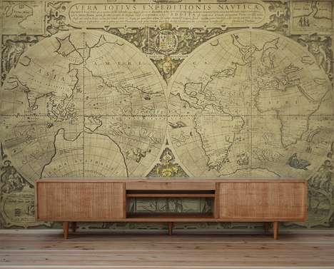 Gigantic Retro Wall Maps - PIXERS Offers Decorations for Avid Travelers