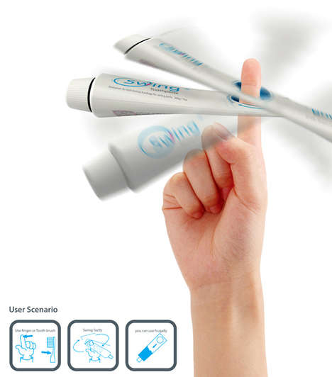 Twirling Toothpaste Tubes