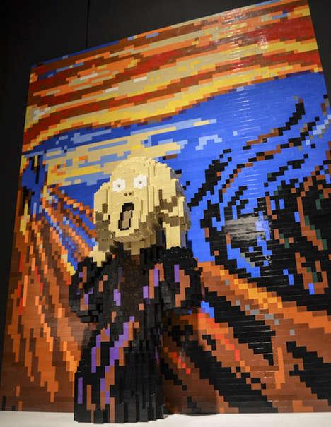 Recreated Art LEGO Sculptures