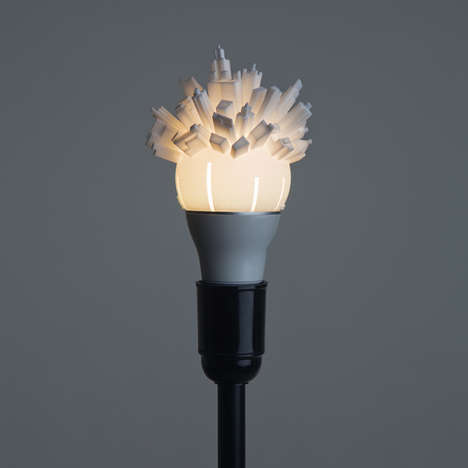 3D-Printed Light Bulbs - The 3D Printed Light Bulbs from David Grass are an Ode to Cities