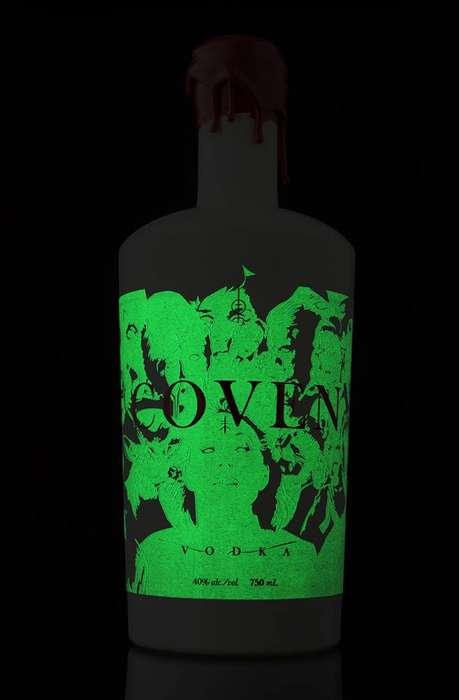 Glow-in-the-Dark Vodka Bottles