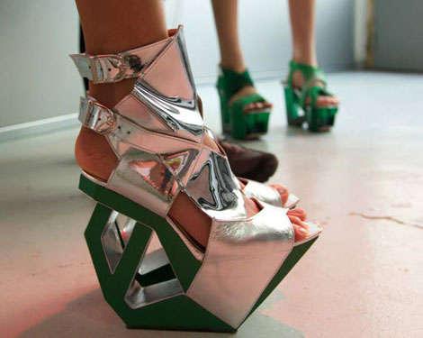 43 Futuristic Geometric Shoes