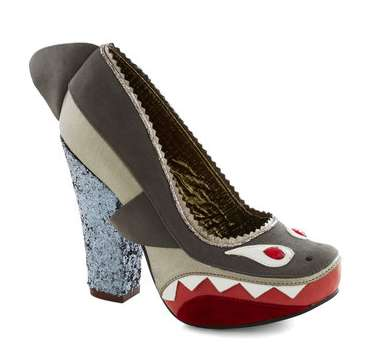 Intimidating Shark-Shaped Heels