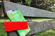 Book-Sharing Benches - Amsterdam Citizens Connect and Share Reading Material with These Red Clips
