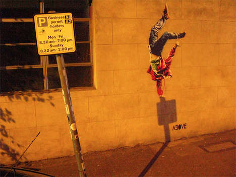 Timed Shadow Street Art