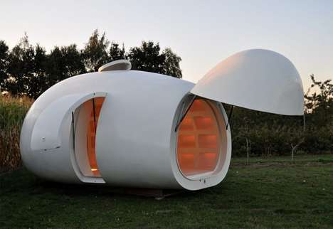 Egg-Shaped Mobile Workspaces - The Mini Egg House is the Perfect Office for Those on-the-Go