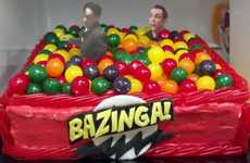 Sitcom-Inspired Desserts - This Big Bang Theory Cake is Both Nerdy and Mouthwatering