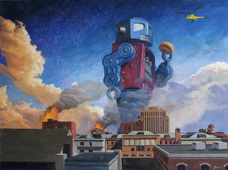 Robotic Revolution Paintings